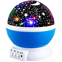 Star Night Lights for Kids, Star Light Lamp Rotating Projector 360 Degree Romantic Rotating Cosmos Star Projector for…