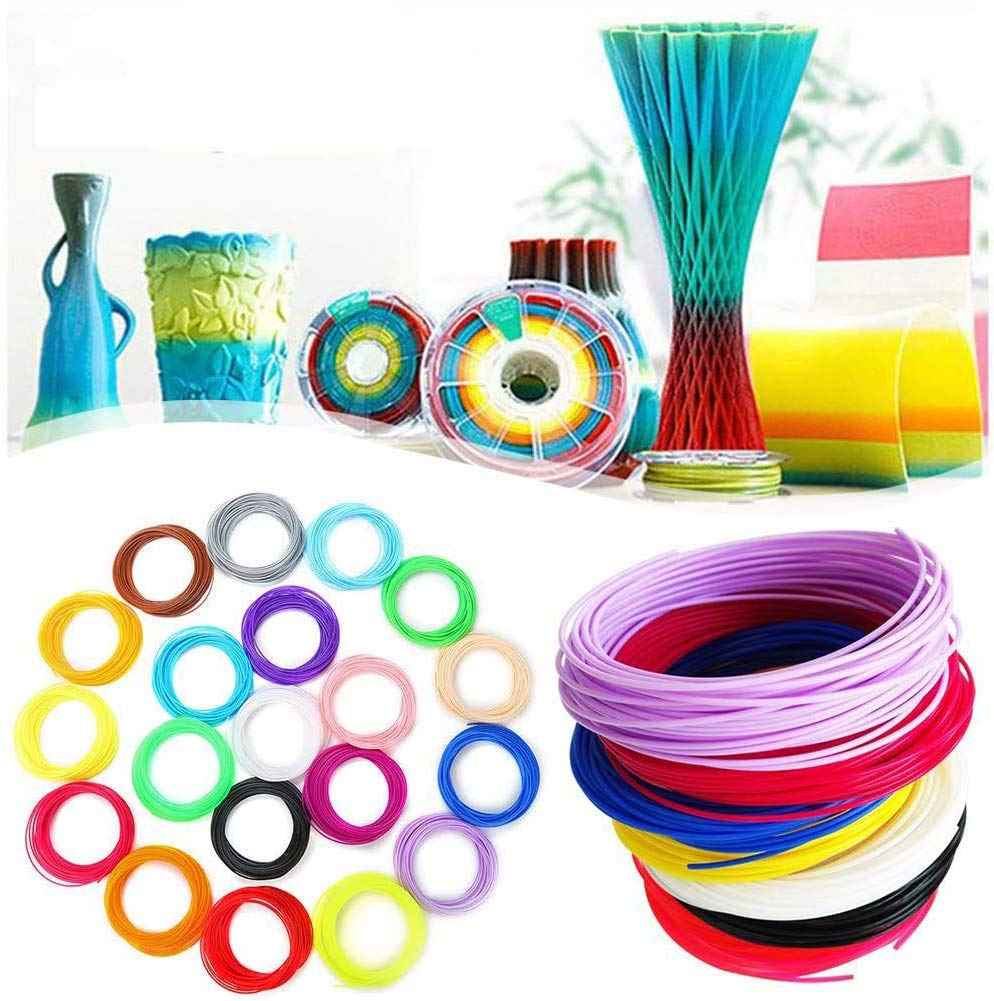 10M Cada Color 10 Colores 3D Pluma Filamento 1,75 mm PLA Materiales de Impresi/ón Filamento PLA para Impresoras 3D y Bol/ígrafos 3D