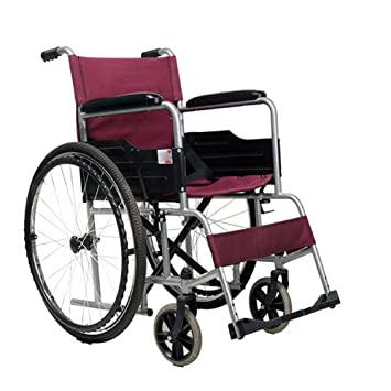 Image of: Power Wheelchair Qian Steel Pipe Hand Push Can Be Folded Light Old People Carrying Disabled People Wheelchair Amazoncouk Sports Outdoors Amazon Uk Qian Steel Pipe Hand Push Can Be Folded Light Old People Carrying