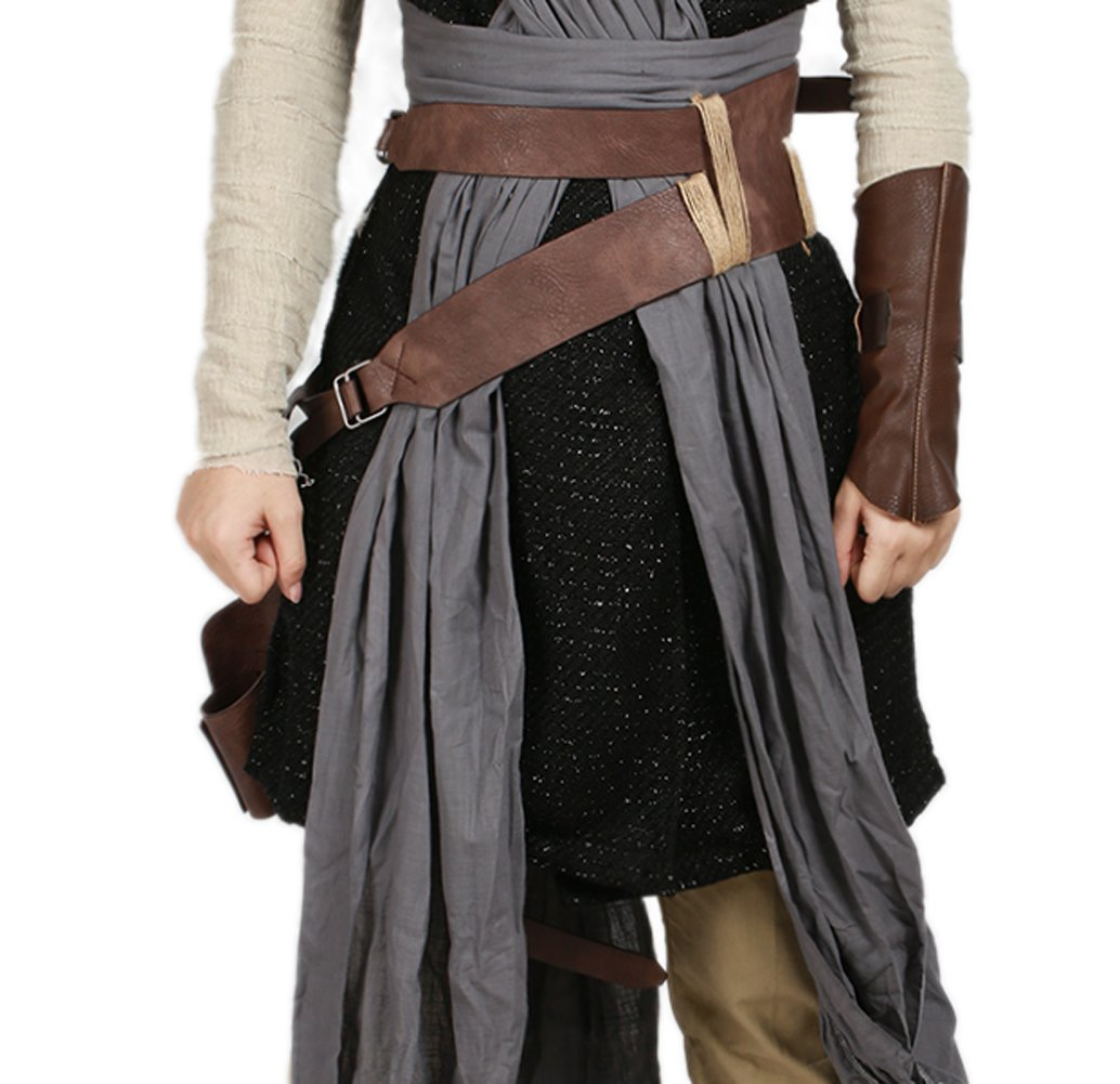 Rey Belt Prop Holster Deluxe Brown PU Cool Adult Cosplay Costume Accessory SW 8