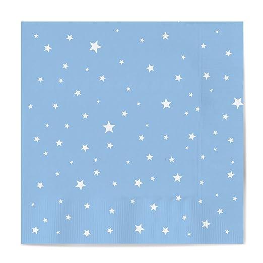 Mantel de papel con decorado de Estrellas Azul Baby ideal para fiestas de cumpleaños, aniversarios, fiestas baby shower y bautizos - 1,2 x 5 m: Amazon.es: ...