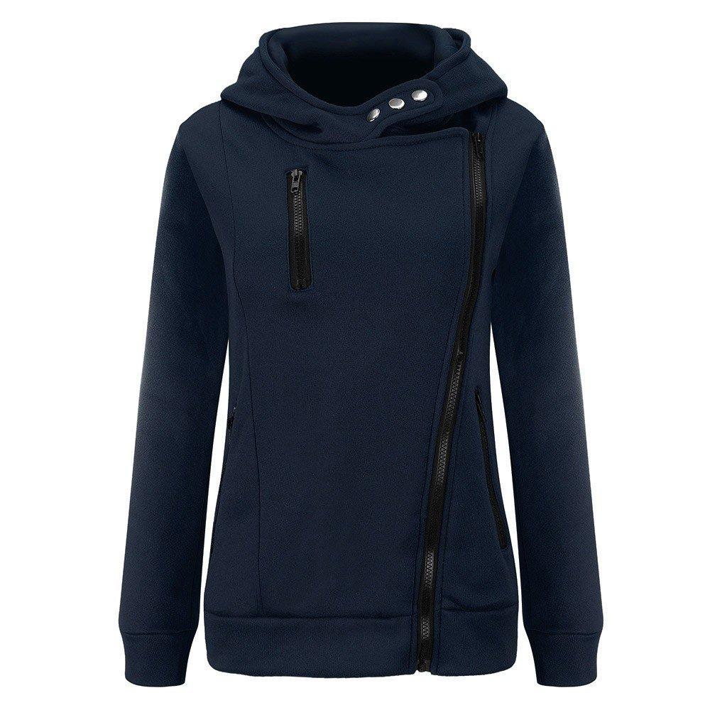 Women Jacket Sale,KIKOY Long Sleeve Plus Velvet Hooded Sweater Zipper Chic Coat by Kikoy womens jackets