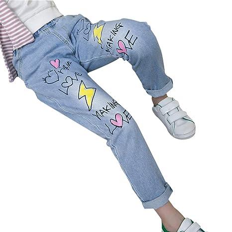 Wimagic - Pantalones Vaqueros para niño y niña, Mezclilla ...