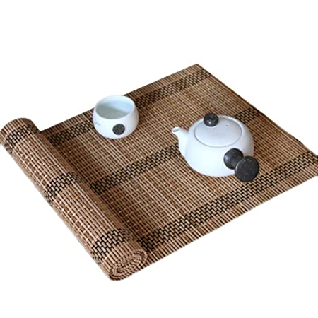 HYDT Camino de Mesa de bambú, tapete para Mesa de té, Estilo ...