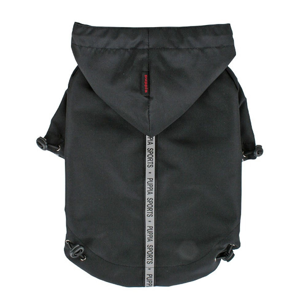 Large Puppia Authentic Base Jumper Raincoat, Large, Black