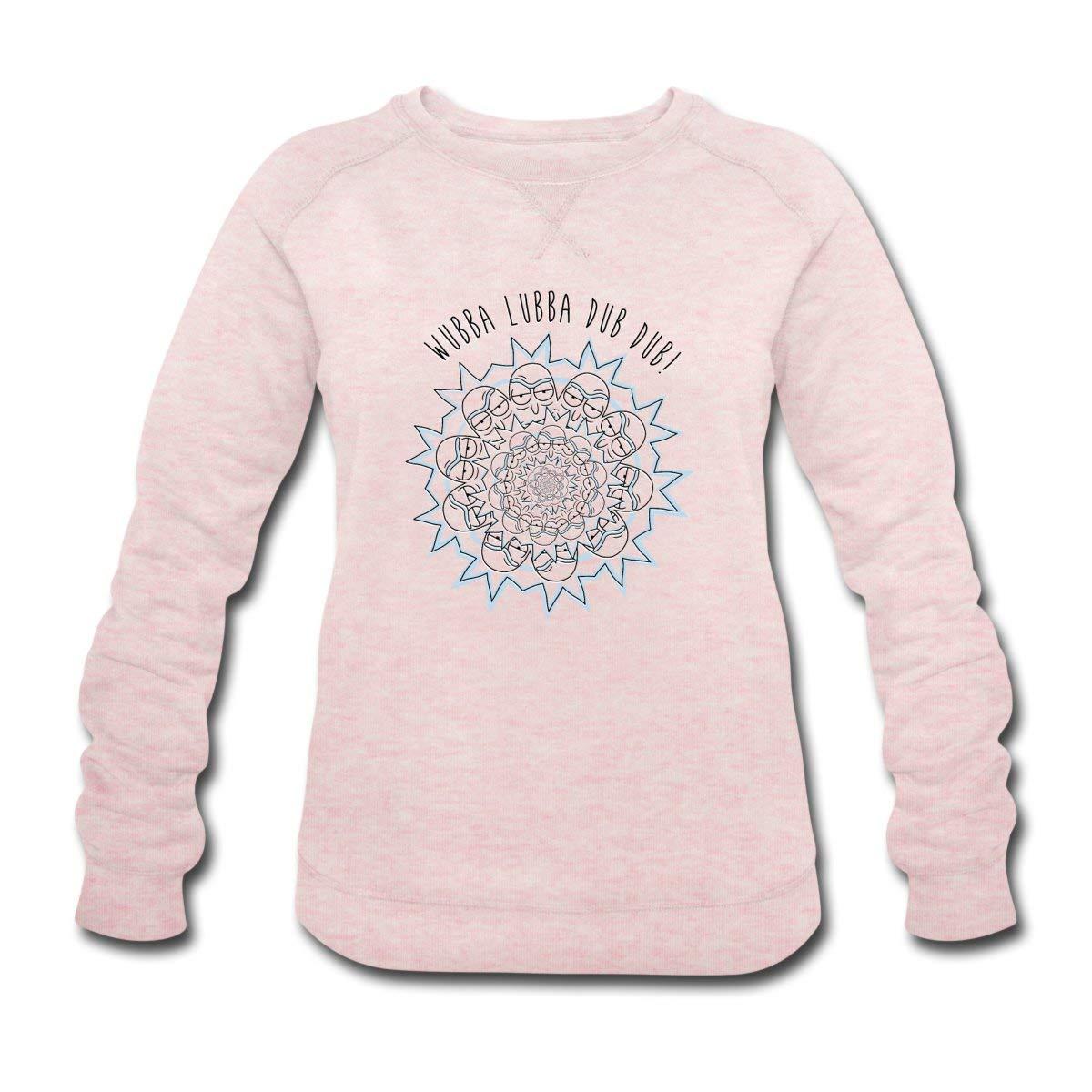 Spreadshirt rick et morty wubba lubba dub dub citation sweat shirt bio femme amazon fr vêtements et accessoires