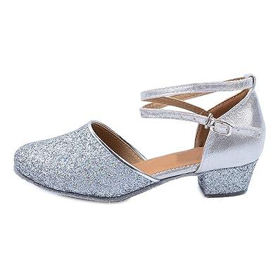 811a7e74ce232 OCHENTA Fille Chaussure de Danse Petite Talon Bloc 3.5cm Enfant Danse   Amazon.fr  Chaussures et Sacs