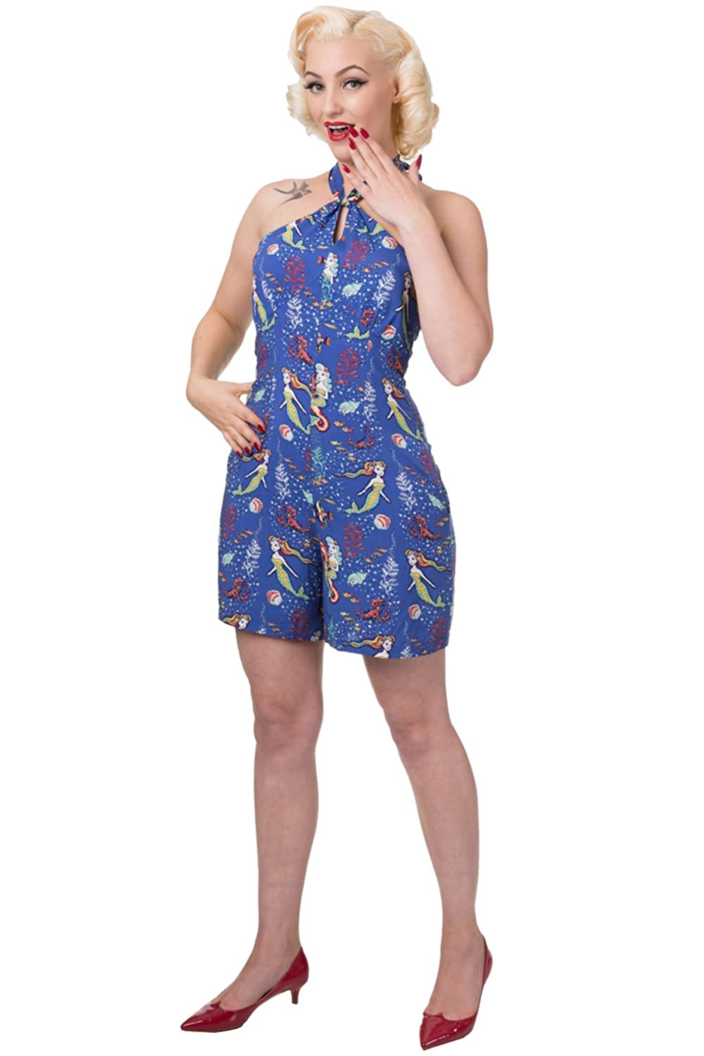 Vintage Rompers, Playsuits | Retro, Pin Up, Rockabilly Playsuits Banned Made Wonder 50s Style Retro Playsuit $32.95 AT vintagedancer.com