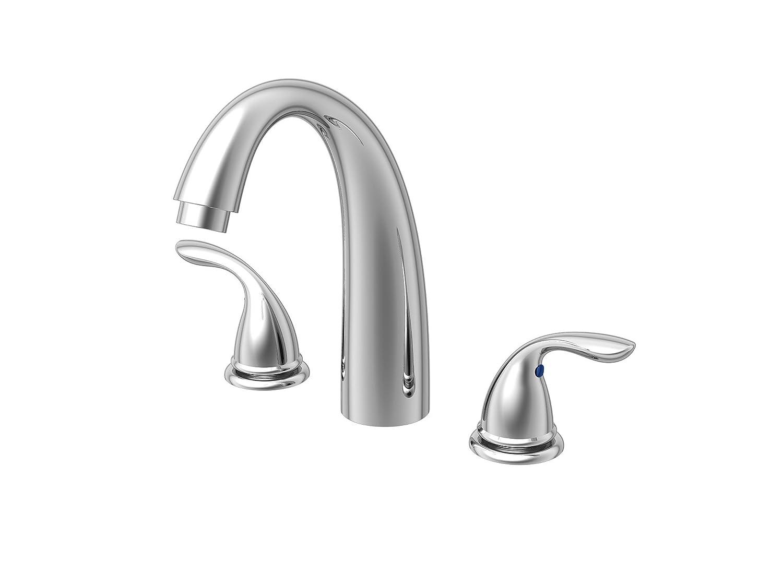 Brushed Nickel Finish, Hombd #Homewerks 20-BV2TNBNAD Homewerks Traditional Two Handle Tub Faucet Trim Kit