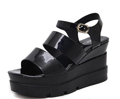 d291d5ae59da0 Amazon.com | LINYI Womens Ladies High Heels Sandals 2018 New Thick ...