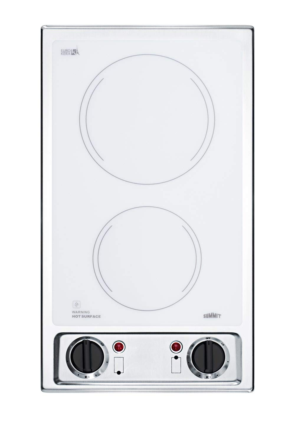 Summit CR2B120WH 12 Inch Wide 2 Burner Electric Cooktop