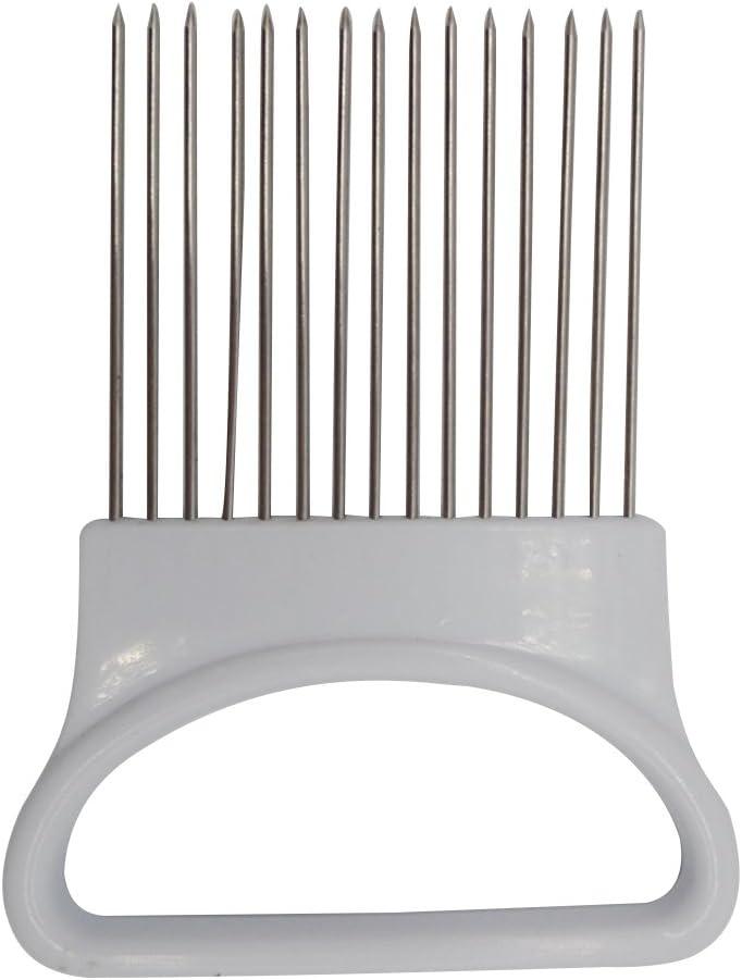 OUNONA Taglia Cipolle Forchetta Manuale per Affettare Cipolla,Inox
