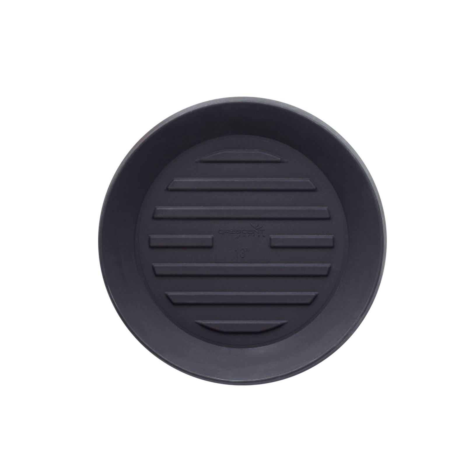 Crescent Garden A990894T Round 8'' Universal Saucer, 8'', Caviar Black