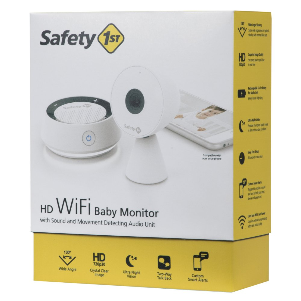 Safety 1st HD Wi-Fi Baby Monitor Camera with Sound- and Movement-Detecting Audio Unit by Safety 1st (Image #7)