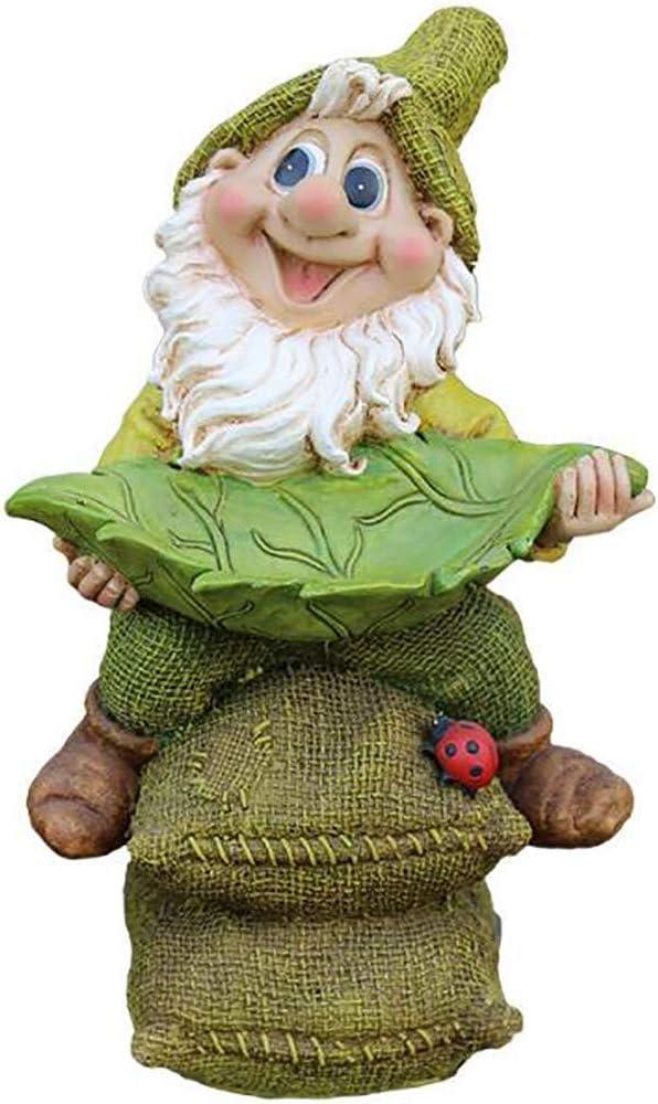 Enanos DecoracióN De Dibujos Animados Esculturas De JardíN JardíN Al Aire Libre DecoracióN De Patio ArtesaníAs De Resina, Creativo Maceta Alimentador De PáJaros, A-Green: Amazon.es: Jardín