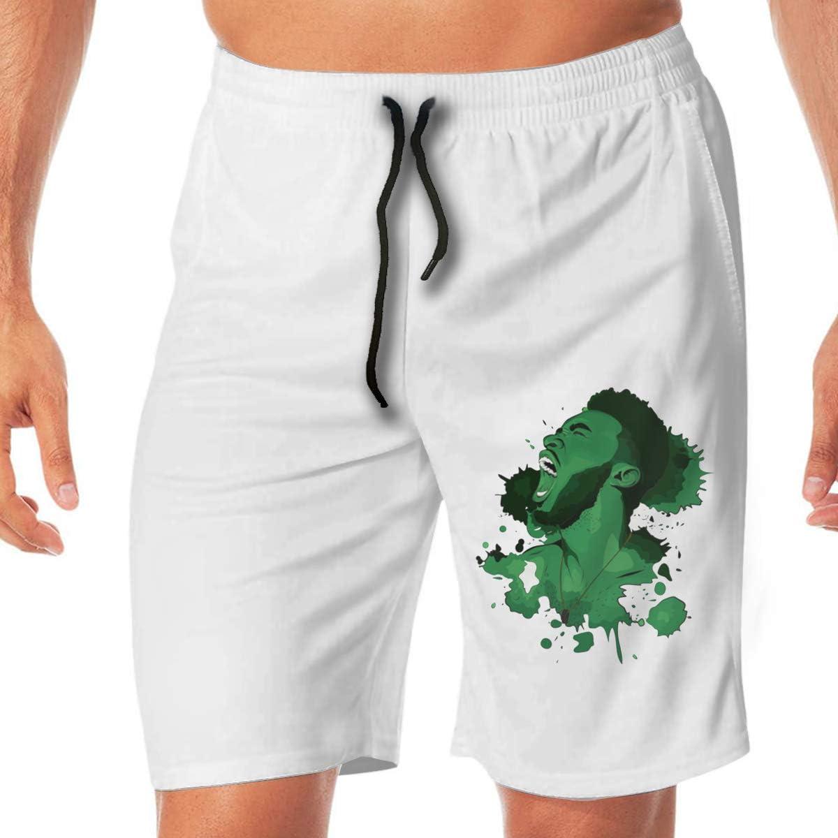 Reynoldss Caraaed Mens Jay Brown Casual Sport Beach Shorts Quick-Dry Board Shorts
