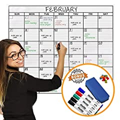 ARE YOU READY TO TAKE ORGANIZING TO THE NEXT LEVEL? Long gone are the days of thinly laminated calendars that rip and are hard to erase! You DESERVE a more efficient and higher quality wall calendar. No one wants to waste time organizing, so ...