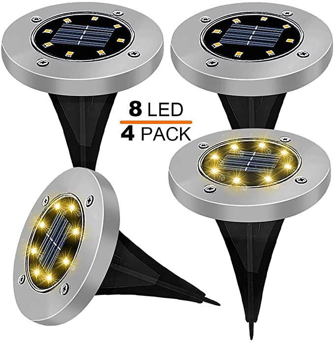 100 opinioni per LED Luce Solari Giardino Esterno, ESEYE 4 Pezzi 8 led Lampada Solare da Giardino