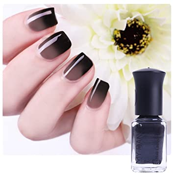 Amazon.com : BORN PRETTY 1 Bottle 6ml Thermal Nail Polish Color ...