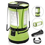 LE 600lm Camping Lantern LED with 2 Multi Functional Handy Flashlight Torch, USB Rechargeable Tent Light, Car Charger Included, for Hiking Outdoor Emergency