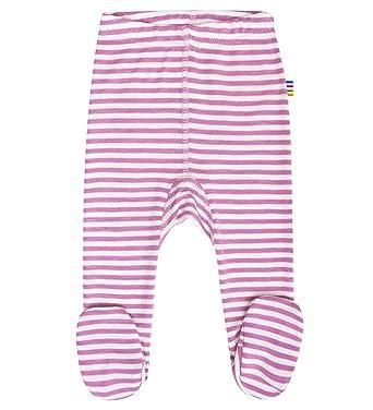 JOHA - Pantalones con Pie Pelele seda de lana de merino y Seda en rosa de rayas, Rosa, recién nacido: Amazon.es: Ropa y accesorios