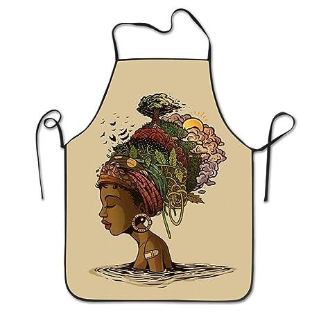 YESGOCO - Delantal de cocina resistente al agua, resistente al ...