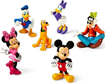 4e49ddfb037 Image Unavailable. Image not available for. Color  Disney Mickey Mouse  Clubhouse Figure Play Set -- 6-Pc.