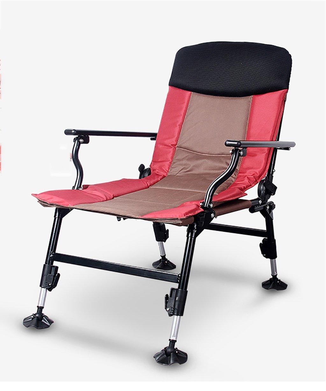 LIQICAI 釣り椅子 ピンク釣りチェア調節可能なガーデンパティオサンラウンジャーの椅子折りたたみ式リクライニングキャンプリラックス家具屋外重量容量150 kg チェア B079315SSX