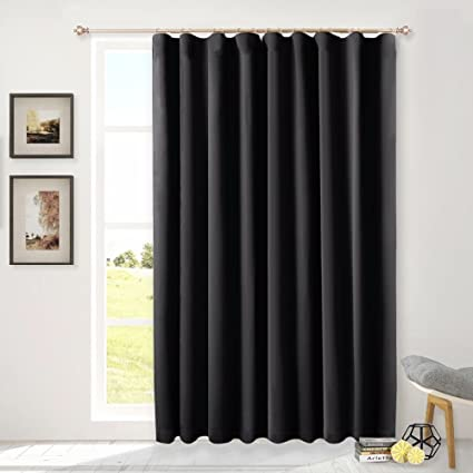 NICETOWN Sliding Glass Door Wide Curtain, Window Treatments For Patio  Doors, Back Tab Thermal