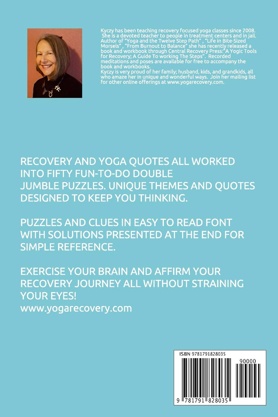 recovery and yoga quotes double jumble puzzle large print puzzles