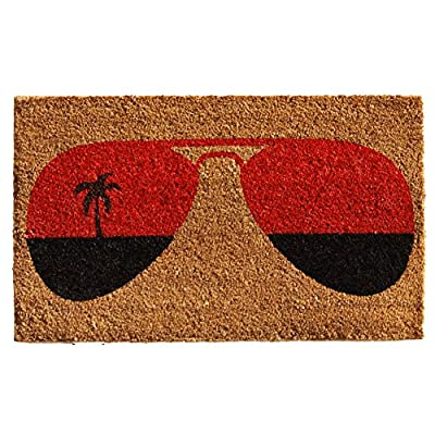 "Home & More 121361729 Tropical View Doormat, 17"" x 29"" x 0.60"", Multicolor"