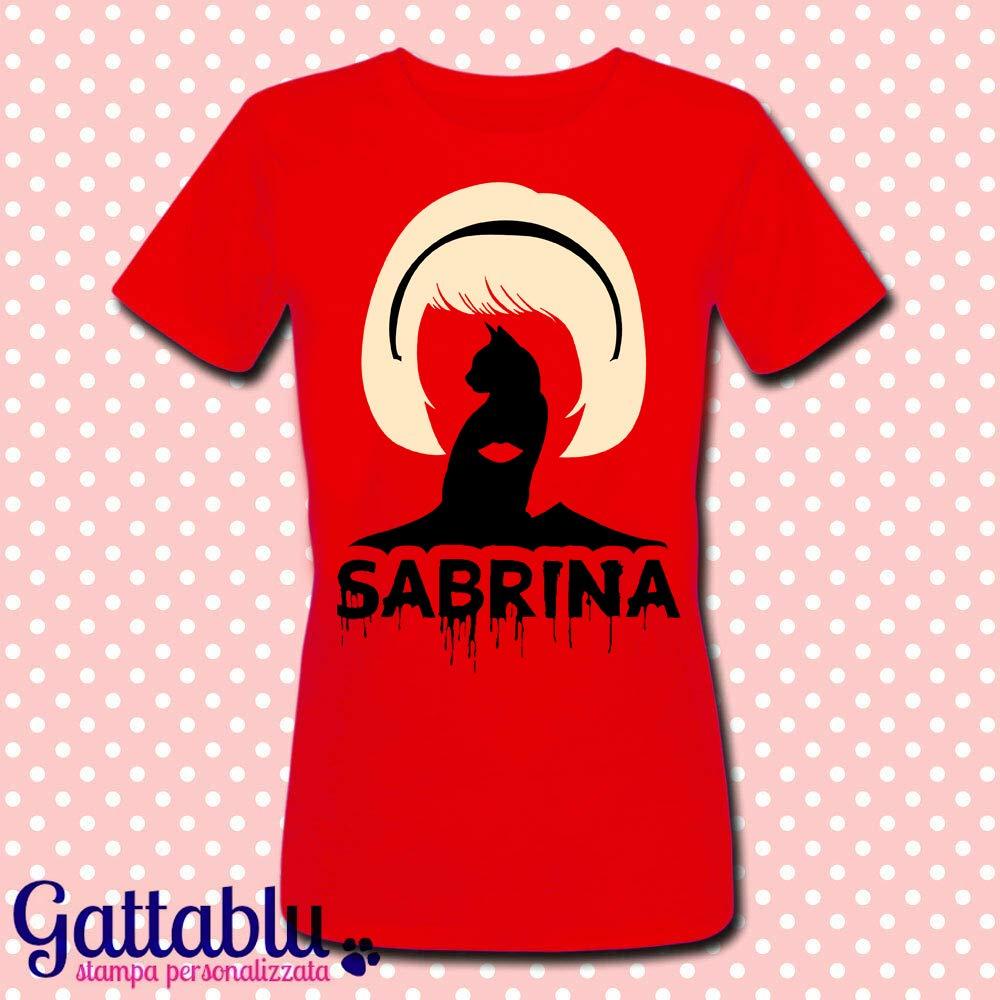 T-shirt donna Le terrificanti avventure di Sabrina, serie tv inspired, strega e gatto nero Salem!