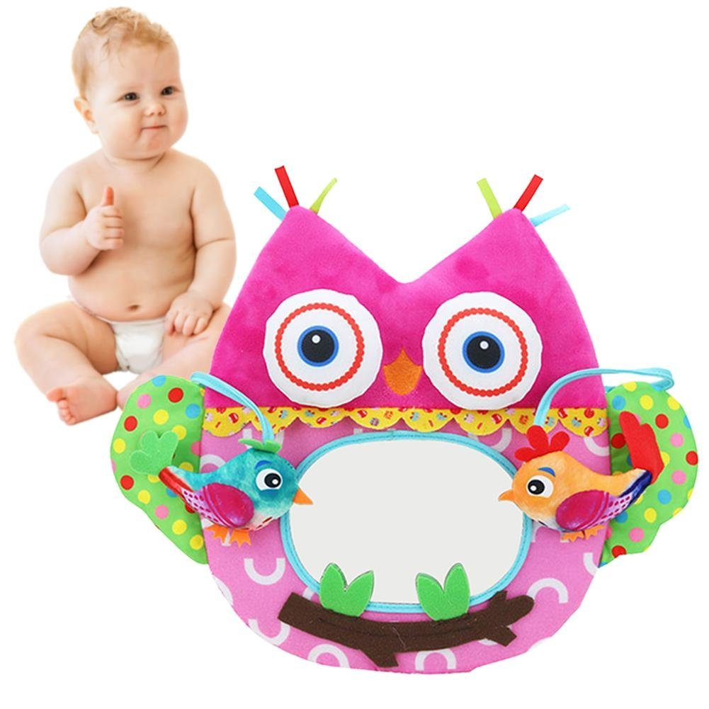 Per Peluches de Juguetes Colgantes para Cuna Bebés Colgantes Blandos de Espejo Distorsionados Juguetes Blandos Bebés Per Trading