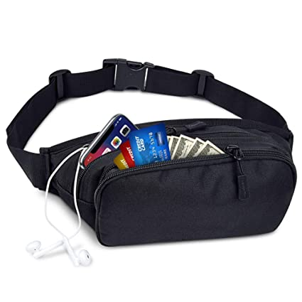 0cf56bf8e31594 BARHOMO Outdoor Waist Bag Waterproof Running Belt Pack Fanny Pack Money  Mobile Phone Key Pockets for Traveling Cycling,Leisure Sport, Traveling,  Camping