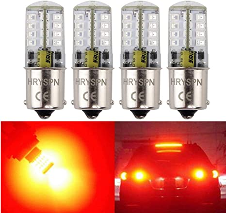 2 x Red 1156 P21W 7506 BA15S 5-SMD 2835 LED Lamp Bulbs For Tail Brake Stop Light
