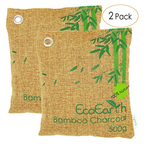 EcoEarth Nature Fresh air Purifier Bags for Home (Premium Tier) (2 Pack 2x500g), Charcoal deodorize Bamboo, Activated Bamboo Charcoal air Purifying Bag, Bamboo Charcoal air Purifier, naturefresh Set by EcoEarth