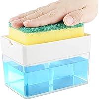 PIONEERS Soap Dispenser for Kitchen + Sponge Holder 2-in-1 – Innovative Designed - Premium Quality Dish Soap Dispenser…