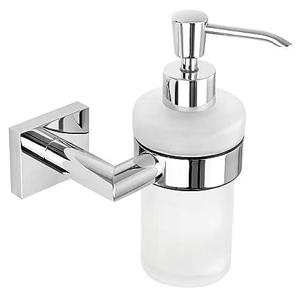 Nicol 7111900 Triton Soporte de Pared con dispensador de jabón, Brillante, fácil fijación Mediante