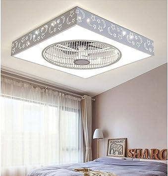 XQY Luz de techo del dormitorio de la casa, moderno ventilador de ...