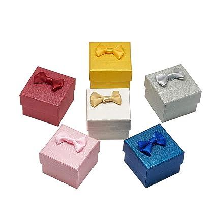 NBEADS 24 Cajas de cartón para Anillos, Cubo de Regalo, Caja de Regalo pequeña