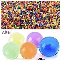 5000 Aqua gel Soil cristallo espansione perline colorate Jelly assorbenti Amazing balls vase filler decorazioni Orbeez Water Bead Magic Growing Ball Home Decor