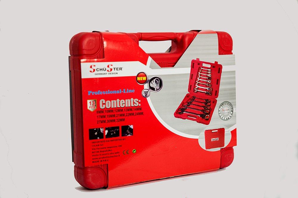 Kombischlüssel mit Ratsche Ratsche Ratsche in Koffer Set 13 Stück. 8 – 32 mm Schwenkkopf B01LWOEI0O | Fairer Preis  a5c31e