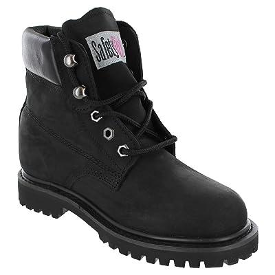 Safety Girl II Soft Toe Waterproof Womens Work Boots - Black: Industrial & Scientific