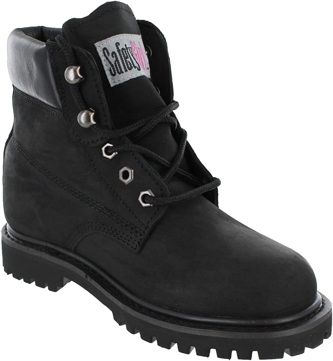 Safety Girl II Soft Toe Waterproof Womens Work Boots - Black