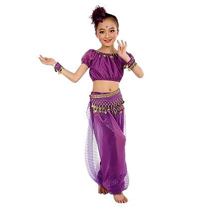 Xmiral Niñas 2Pcs Cojuntos Traje para Danza Vientre Oriental Belly Dance