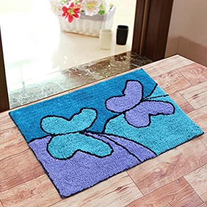 Generic Sahil Home Decor Pure Cotton Anti Skid Water Obsorbing Door Mat - 20 Inch x 30 Inch, Multi Color
