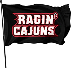 Ali Yee Lou-Isiana Ragin' Cajuns 3x5 Feet Flag Outdoor Decorations Garden Farmhouse Yard Sign Banner,Vivid Color and Uv Fade Resistant with Grommets