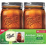 Canning Jar Qt 4pk Amber