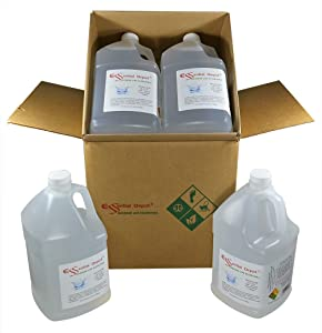 glyCUBE - 4 Gallons Propylene Glycol - USP - Kosher - Food Grade - 4 Separate Gallons (Each Gallon is 8 lbs 9 oz or 137oz net wt) - Safety Sealed HDPE Container with resealable Cap