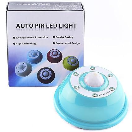 Lámpara con Sensor de Movimiento Infrarrojo Pasivo (PIR), Luz LED Auxiliar, Azul